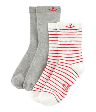 Set of 2 pairs of socks for boys . set