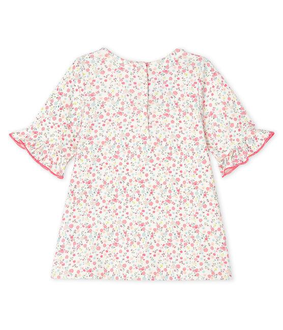 Baby Girls' Short-Sleeved Print Blouse Marshmallow white / Multico white