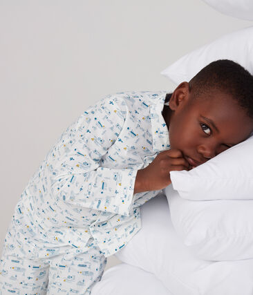 Boys' Cloth Pyjamas Marshmallow white / Shadow blue