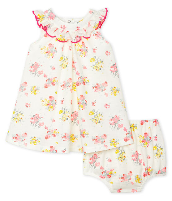 Baby Girls' Print Dress and Bloomers Marshmallow white / Multico white