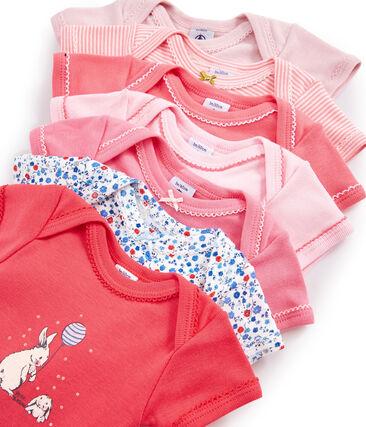 Surprise pack of 7 short-sleeved bodysuits for baby girls