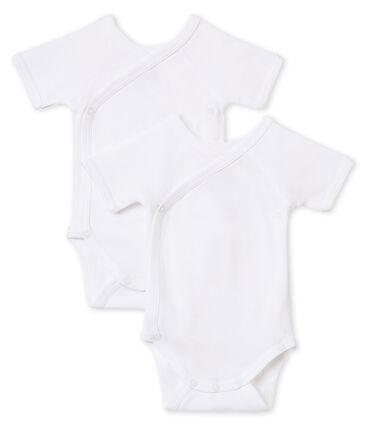 Newborn Babies' Short-Sleeved Bodysuit - Set of 2 . set