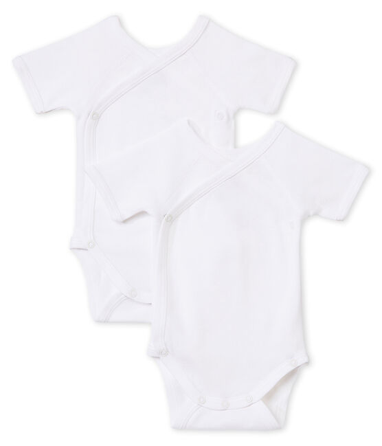 Newborn Babies' Short-Sleeved Bodysuit - Set of 2 . set