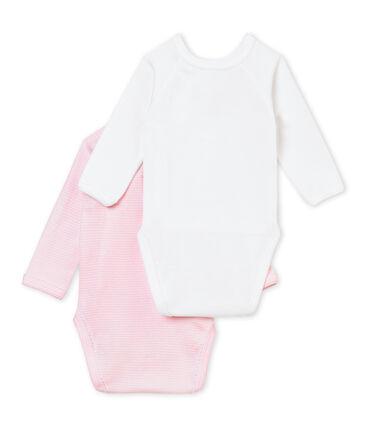 Baby's girl sleepsuit with integrated bodysuit