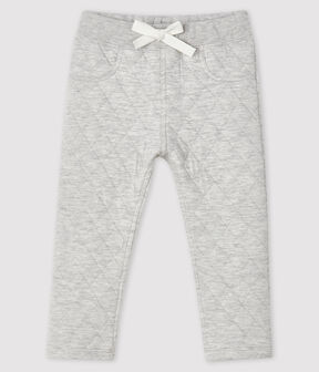 Baby boy's tube knit trousers Beluga grey