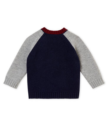 Baby boy's wool and cotton knit sweater