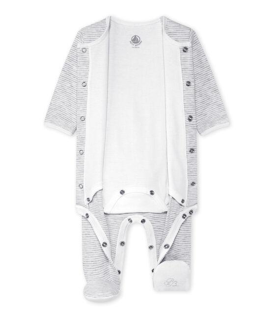 Unisex baby bodyjama Beluga grey / Ecume white