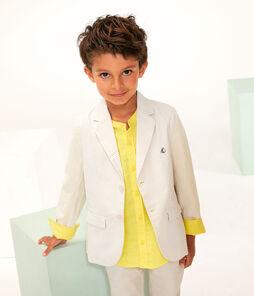 Boys' Jacket beige Beige / Marshmallow white