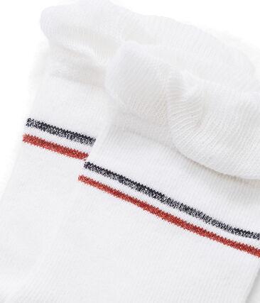 Girls' Socks Marshmallow white