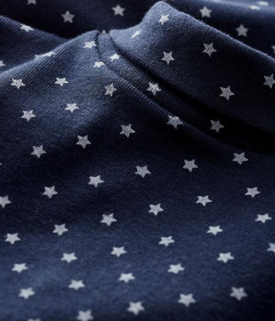 Baby boy's long-sleeved bodysuit Smoking blue / Marshmallow white