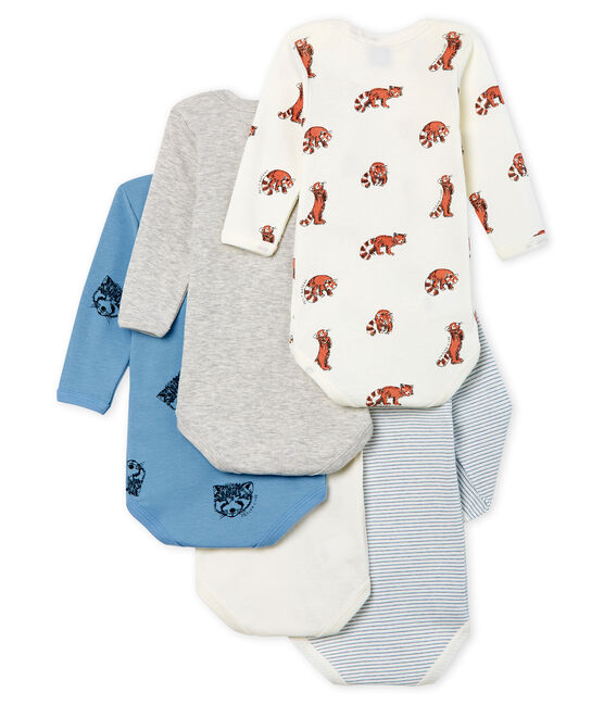 Baby Boys' Long-Sleeved Bodysuit - 5-Piece Set . set