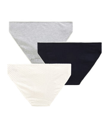 Girls' Stretch Cotton pants - Set of 3