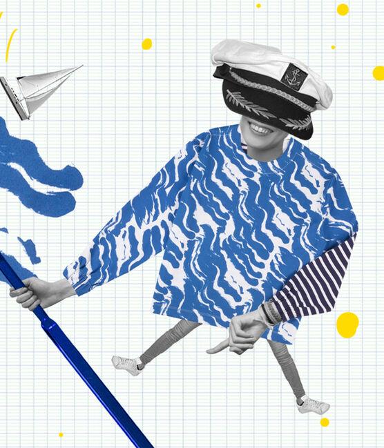 Hyères edition women's Breton top Ecume white / Bleu blue