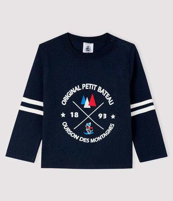 Baby boy's t-shirt Smoking blue
