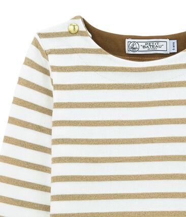 Girl's shiny breton top