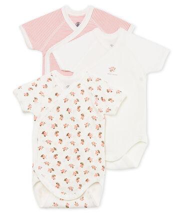 Short-sleeved newborn bodysuit - Set of 3