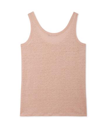 Women's lacquered linen tank top
