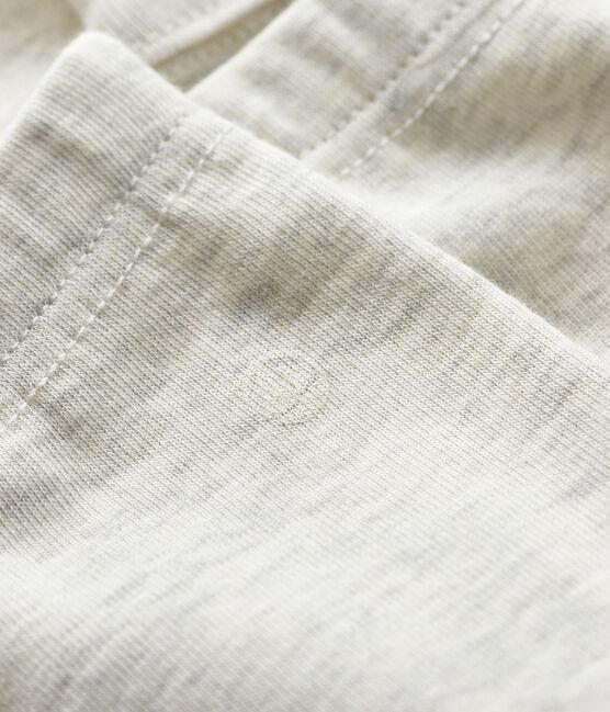 Baby girl's leggings in plain 1x1 rib knit Montelimar Chine grey