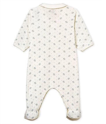 Baby boys' sleepsuit in printed 1x1 rib knit