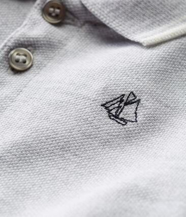 Baby boys' plain piqué polo shirt