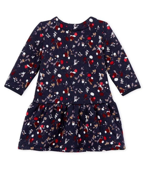 Baby girl's print dress Smoking blue / Multico Cn white