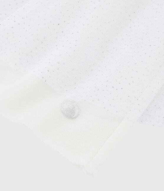 Girls' Tulle Skirt Marshmallow white / Argent grey