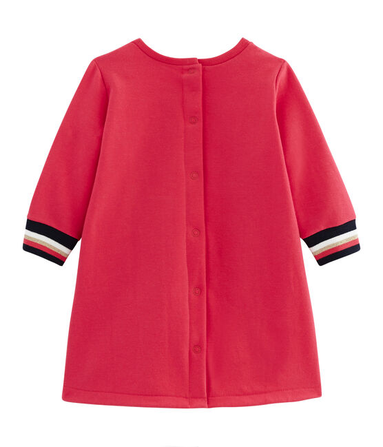 Baby Girls' Long-Sleeved Dress Signal red