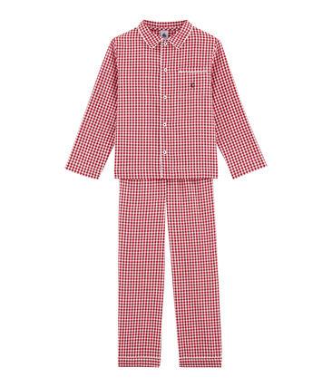Little boy's checked pyjamas