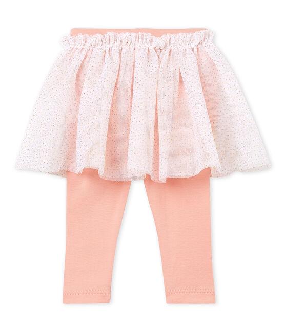 Baby girls' skirted leggings Marshmallow Cn white