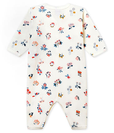 Baby Girls' Ribbed Footless Sleepsuit