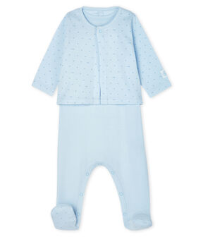 Babies' Ribbed Clothing - 2-Piece Set Fraicheur blue / Acier blue