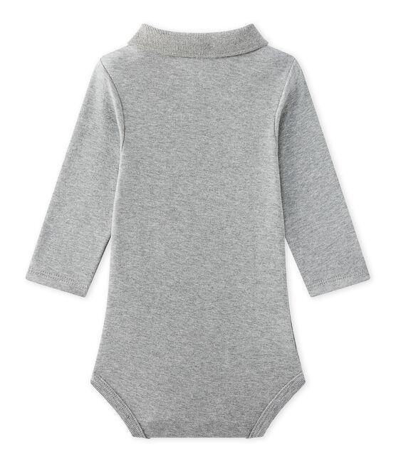 Baby boy's bodysuit with collar Subway Chine grey