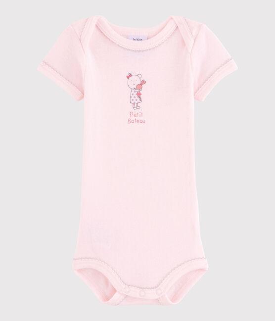Baby Girls' Short-Sleeved Bodysuit Vienne pink