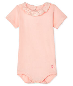 Baby Girls' Dress with Ruff Minois pink