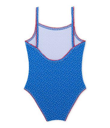 Girls' one-piece polka dot swimsuit