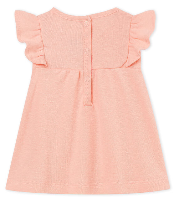 Baby girls' cotton/linen blouse Rosako pink