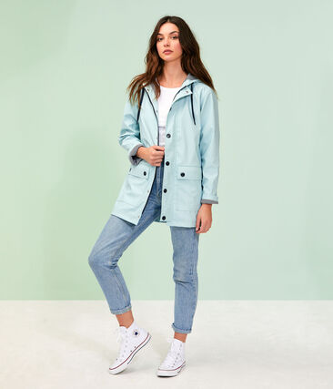 Unisex Iconic Waxed Coat Crystal blue