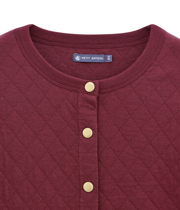 women's quilted cardigan