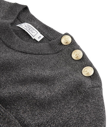 Women's Pullover City black / Argent grey