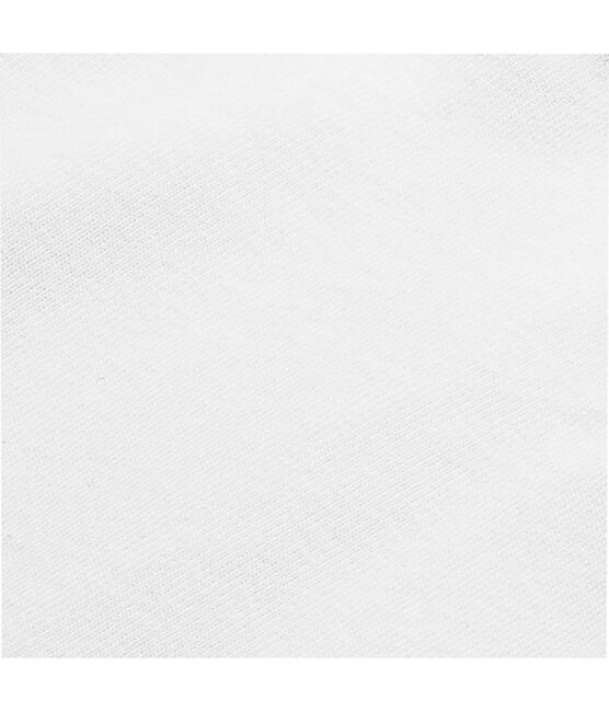 Baby short-sleeved plain cotton envelope-neck bodysuit Ecume white
