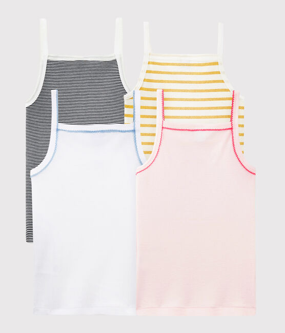 Surprise pack of 4 tops with straps for girls . set