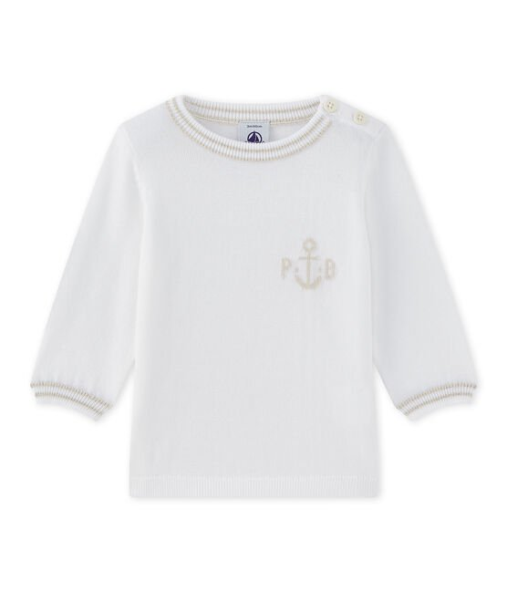 Baby boy's knit sweater Marshmallow white