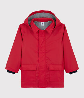 Girls' Iconic Raincoat Terkuit red