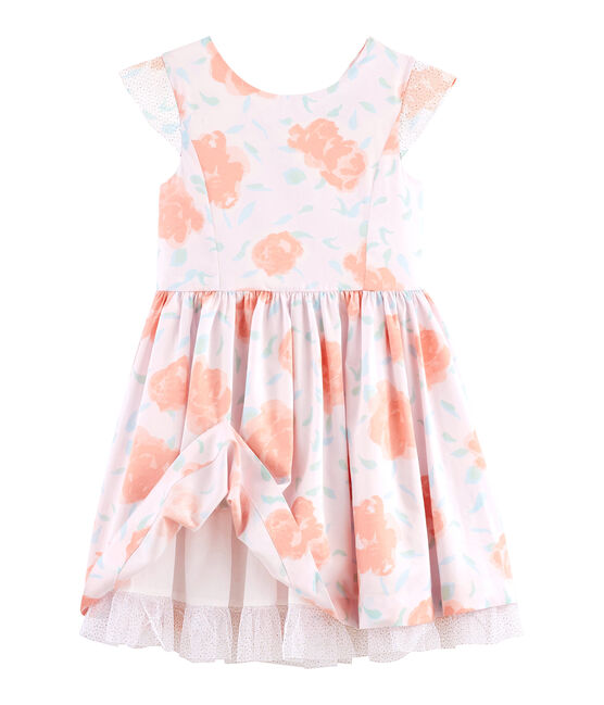 Girls' Formal Dress Vienne pink / Multico white