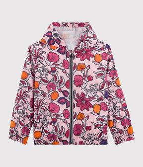 Girls' 50+ UPF Sunproof Windbreaker Patience pink / Multico white