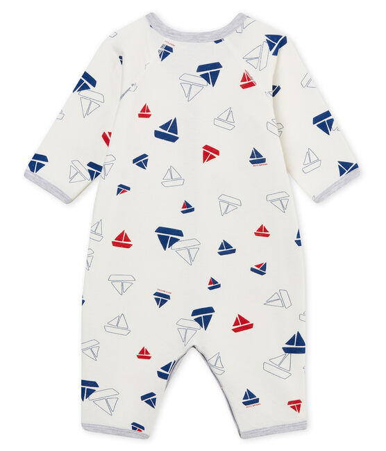 Baby Boys' Tube Knit Footless Sleepsuit Marshmallow white / Multico white