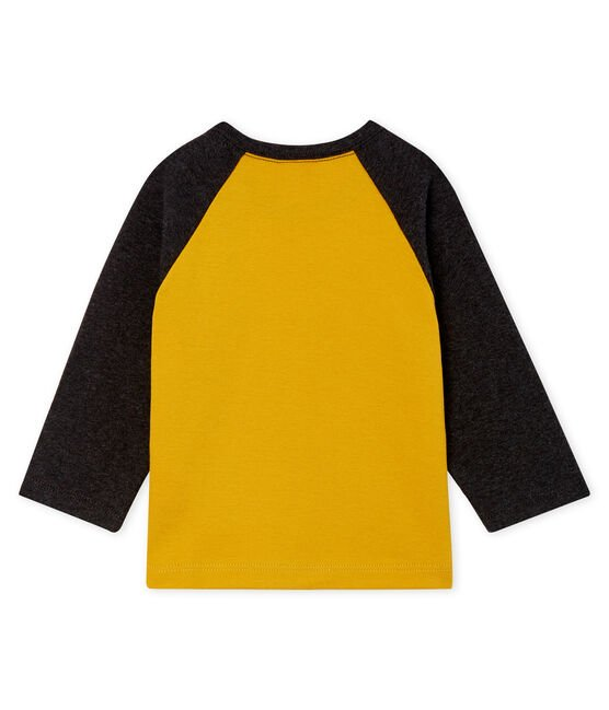 Baby Boys' Long-Sleeved T-Shirt Boudor yellow / City black