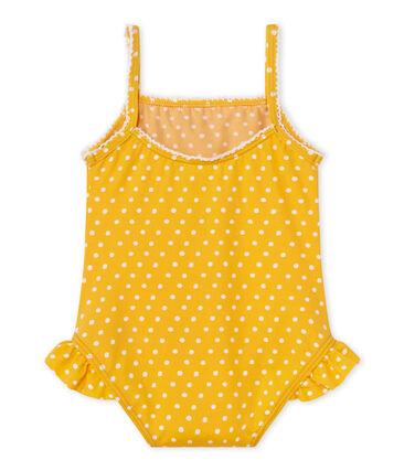 Baby girl's polka dot swimsuit
