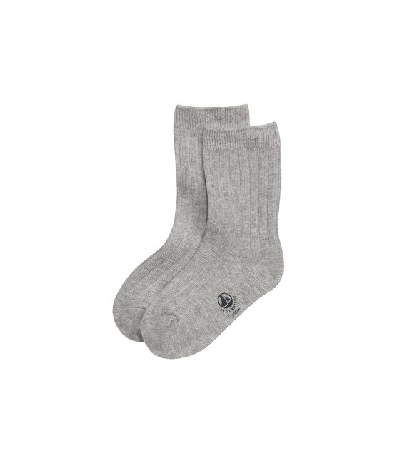 Boys' plain socks Subway grey