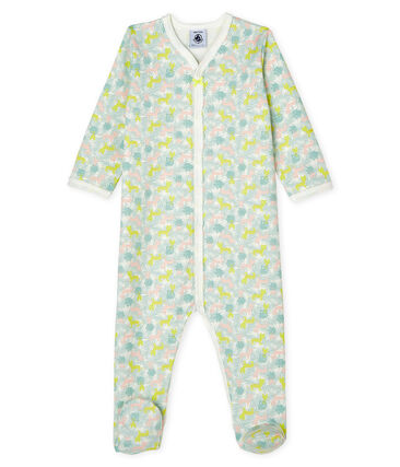 Baby Girls' Fleece Sleepsuit Marshmallow white / Multico white